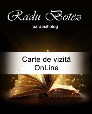 Carte de vizita OnLine - Radu Botez - Parapsiholog