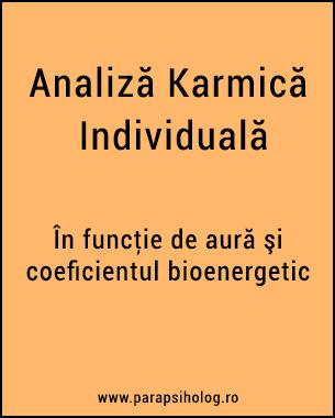 """Se foloseşte uneori noţiunea de """"karma"""" pentru a înlocui cuvântul""""destin"""", ceea ce este completamente greşit, căci sensul acestora este diferit. Destinul este cel despre care se spune că este o forţă ce hotărăşte în mod fatal şi irevocabil (din nou: eronat) mersul vieţilor noastre. KARMA este totalitatea acţiunilor noastre din vieţi anterioare, care influenţează viaţa prezentă şi uneori pe cea viitoare.  Ca să îndrept o greşeală, trebuie să...  Citeşte."""